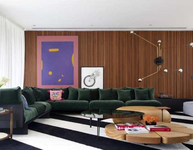 Foto da sala da casa de Bruna Marquezine no Rio de Janeiro
