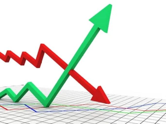 Gráfico com setas para cima e para baixo - Oque são tendências