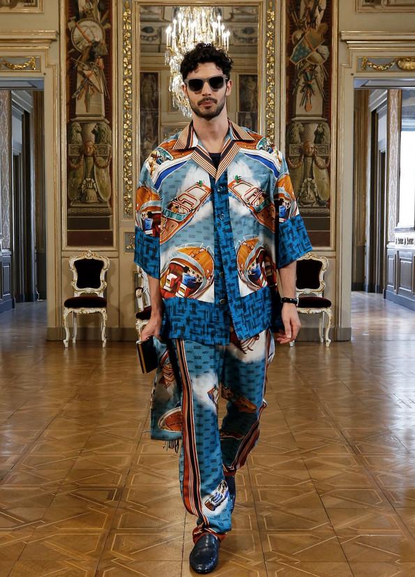 Look masculino estampado - Dolce & Gabbana Virtual