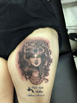 Tatuagem medusa old scool