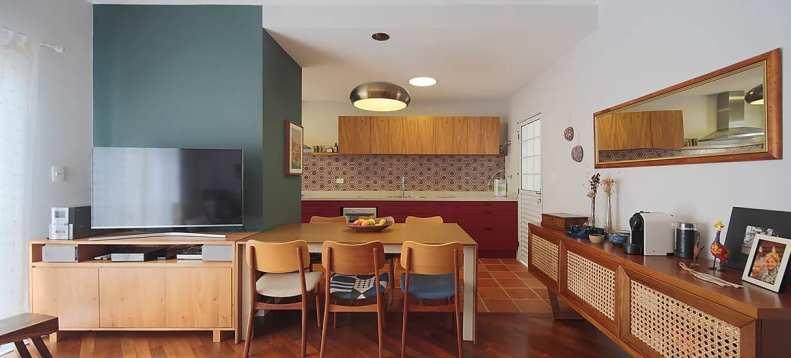 Cozinha pegada retro - Projeto assinado pela arquiteta Sabrina Wernicke