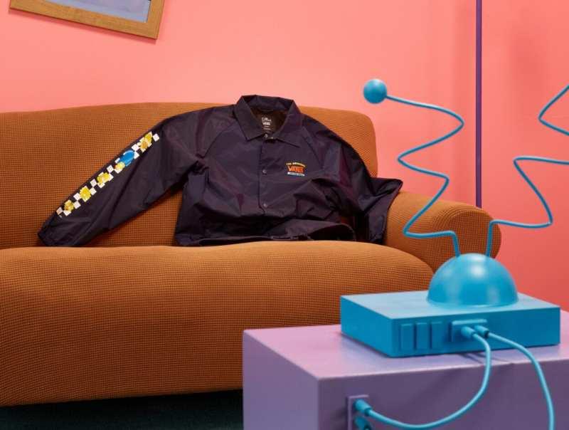 aqui agasalho preto da coleção vans x simpsons