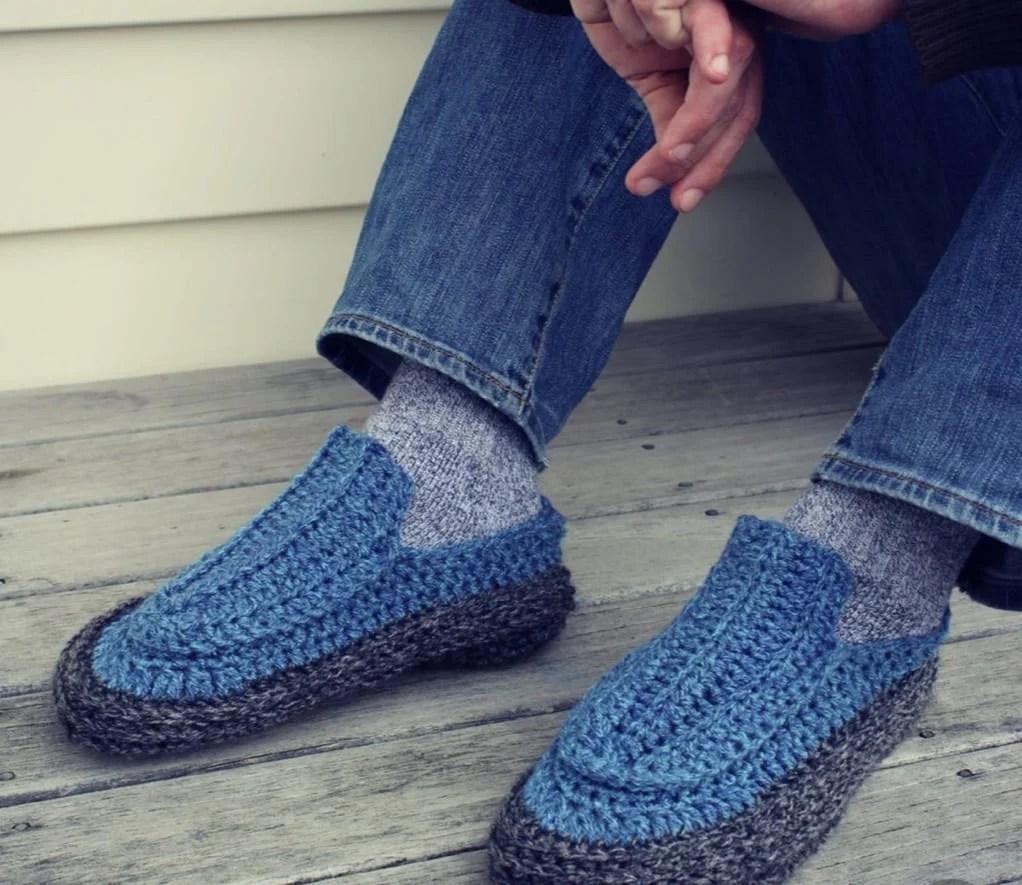 Pantufa masculina com meia