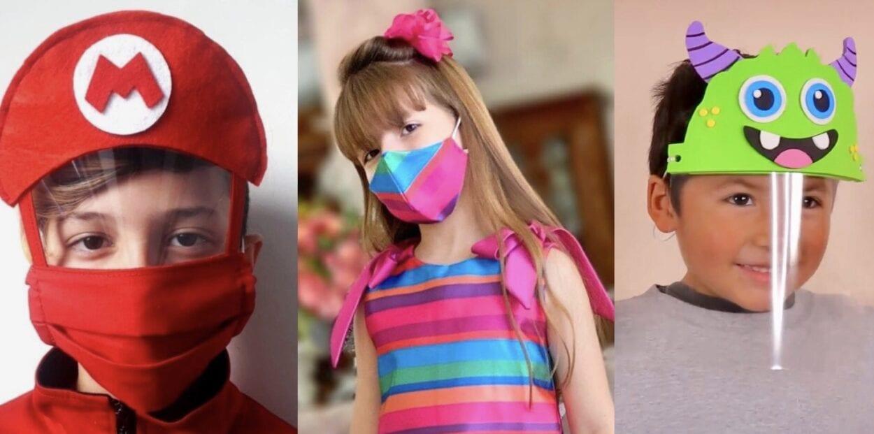 máscara infantil para crianças