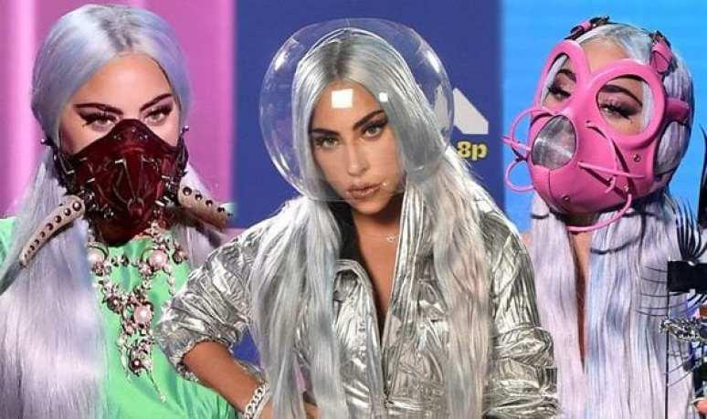 Lady Gaga usou 7 máscaras no VMA 4