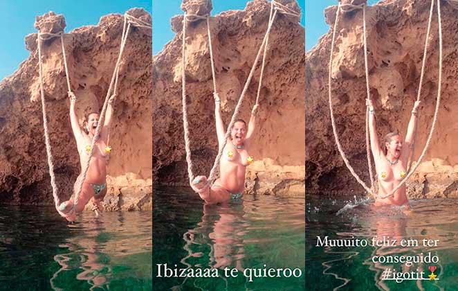 Luana Piovani faz topless