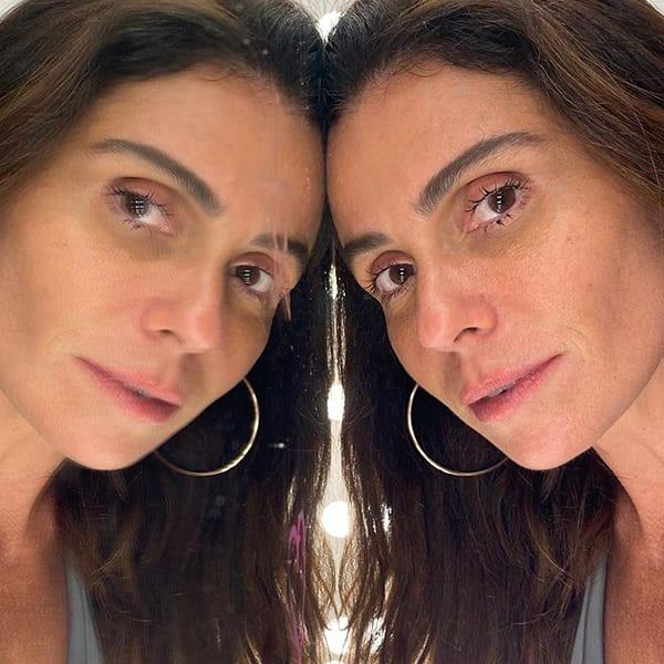 Aqui Giovanna Antonelli sem maquiagem em seu Instagram