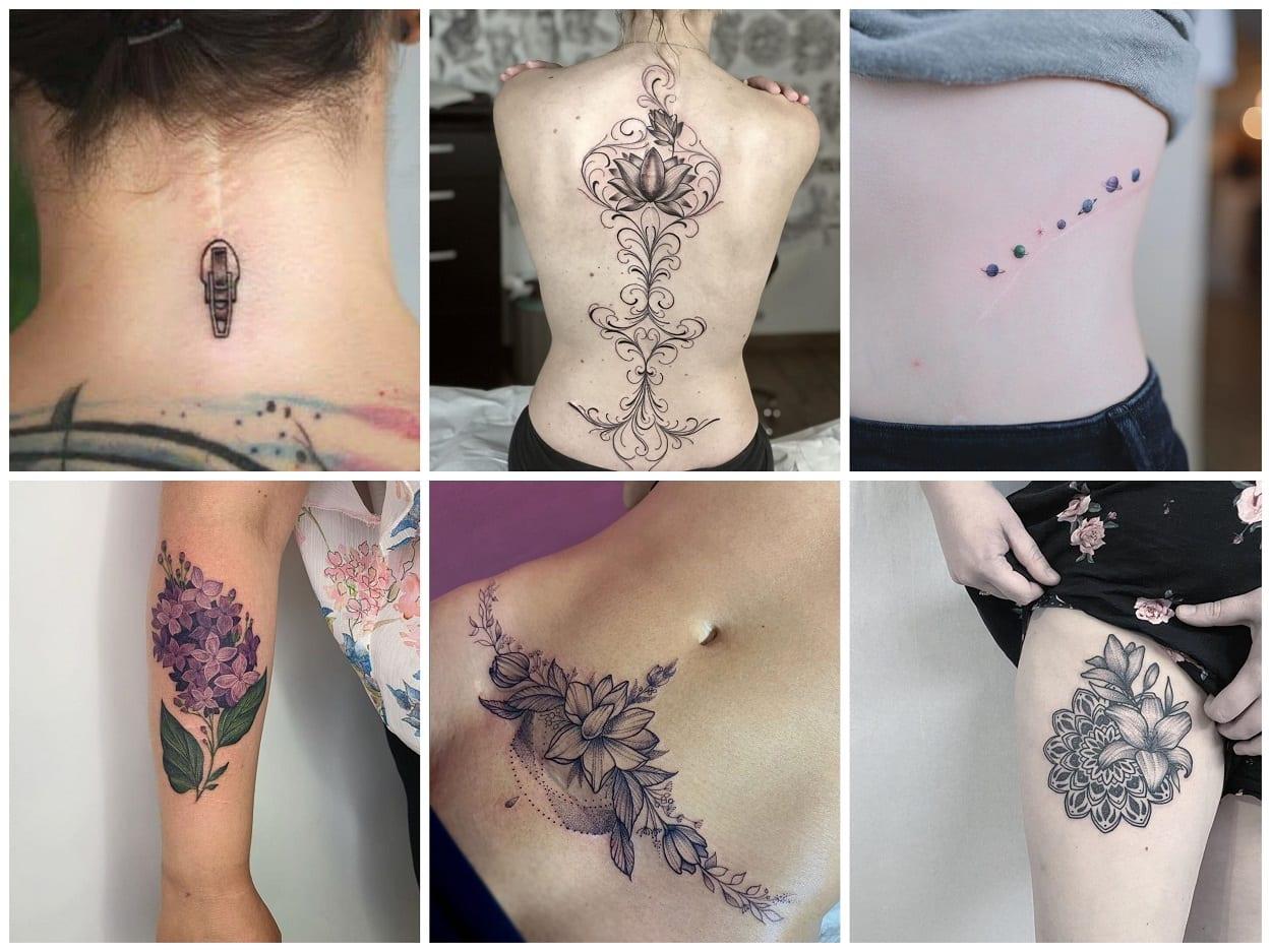 seis ideias de tatuagem em cicatriz