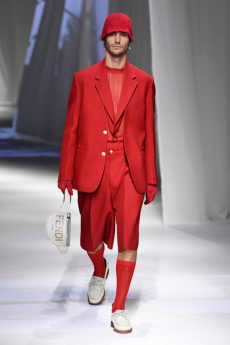 look masculino vermelho