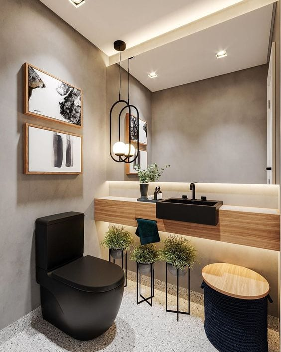 Lavabo simples e moderno