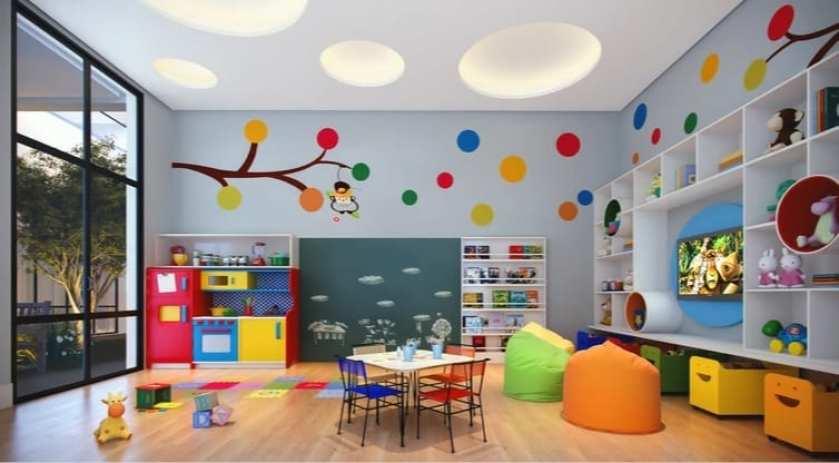 Área infantil do empreendimento de luxo