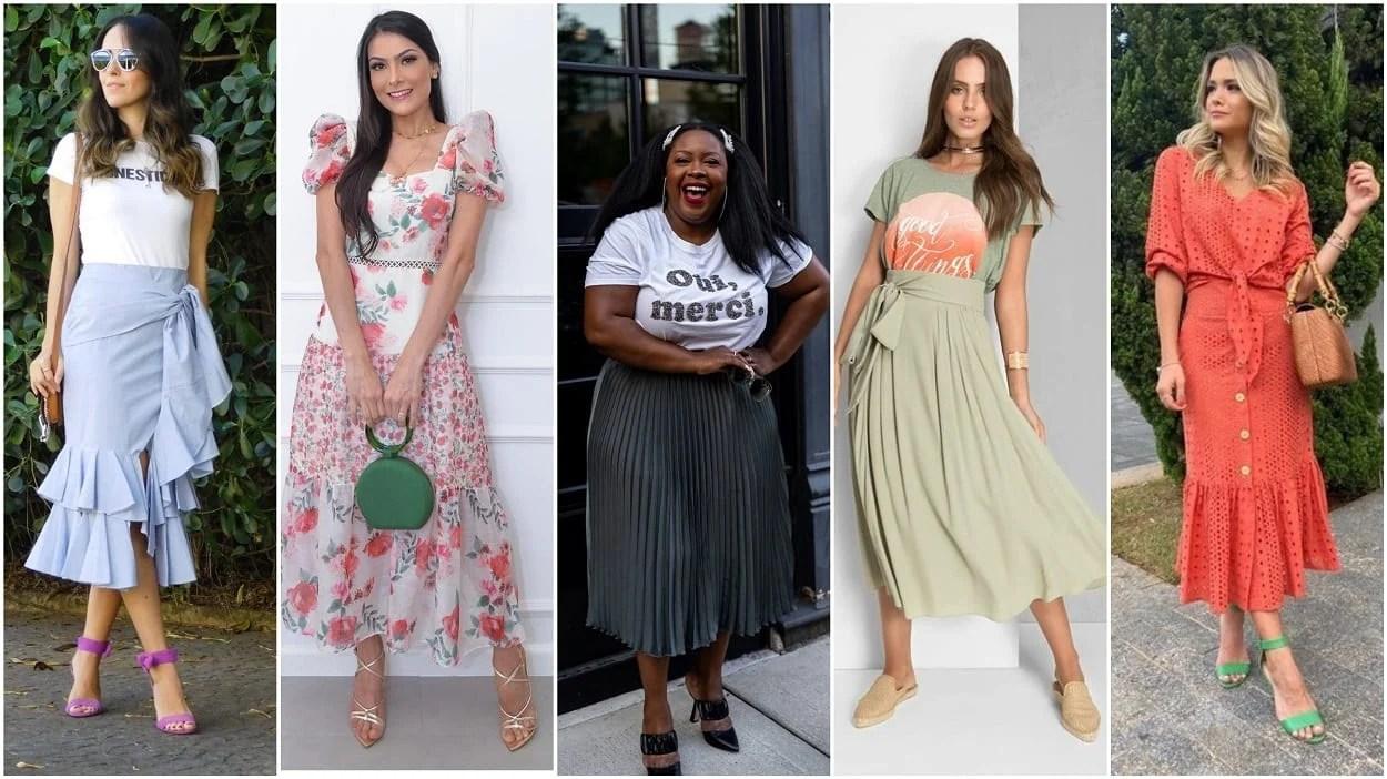 cinco opções de looks com tendências da moda evangélica 2021