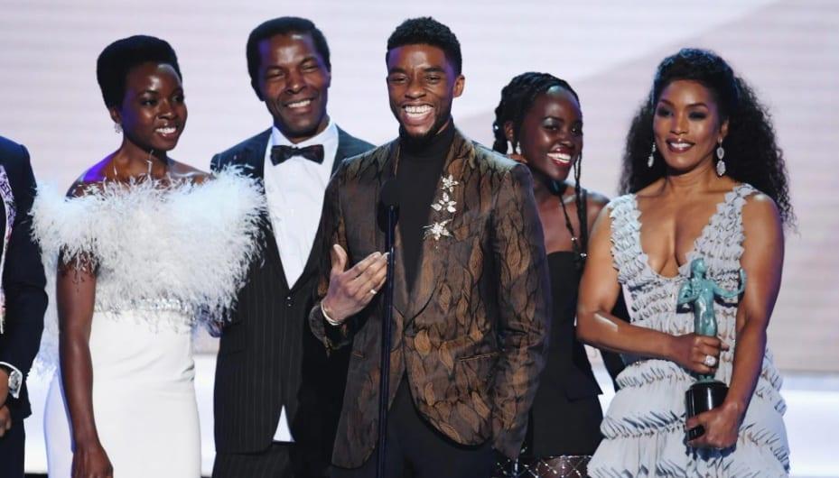 Chadwick Boseman em premiação