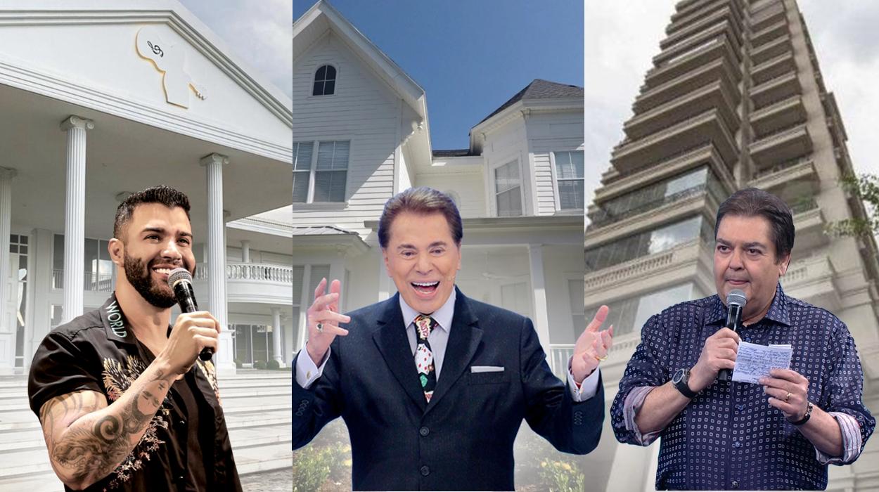 Famosos e suas mansões.