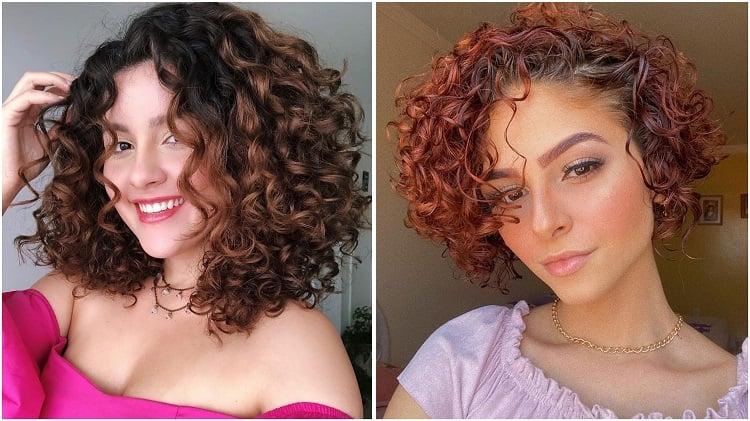 duas mulheres com corte de cabelo reto
