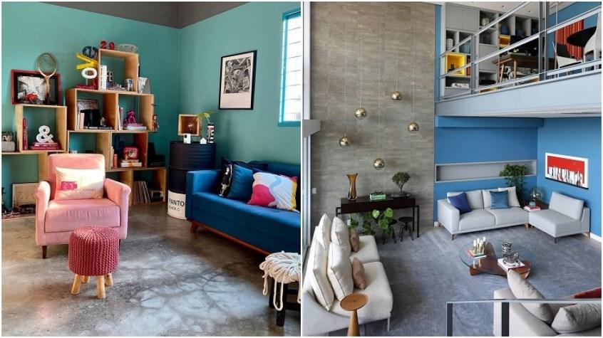 duas salas coloridas