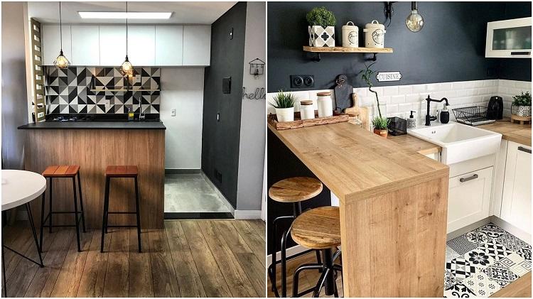 fotos de duas cozinhas decoradas