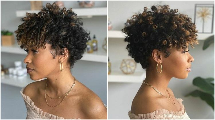 mulher com corte tapered hair