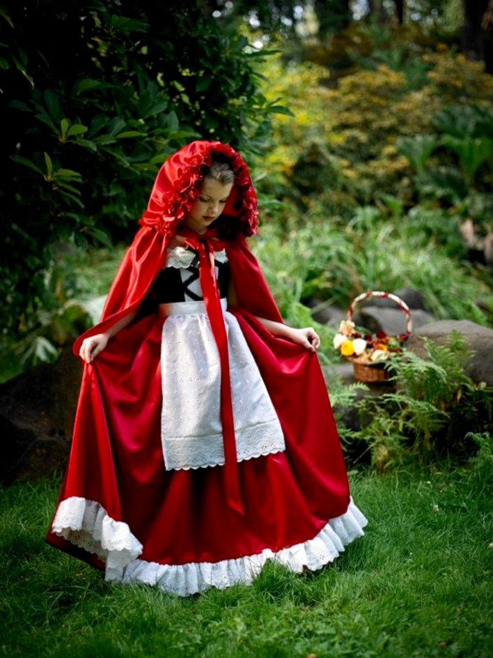 Capa vermelha para fantasia halloween