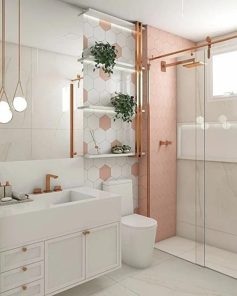 Banheiro rose gold