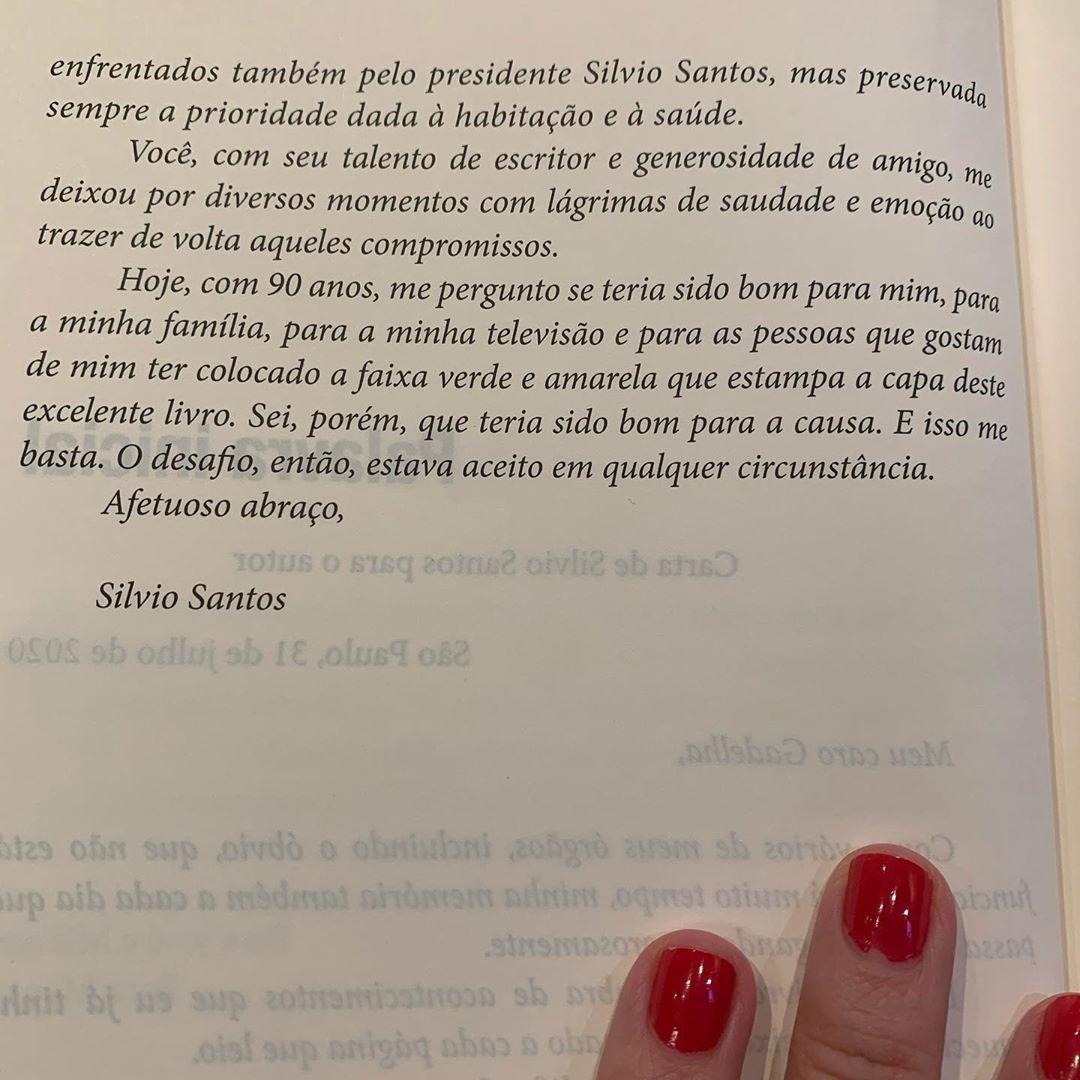 Fim da carta de Silvio Santos