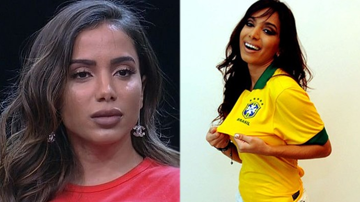 Anitta usando blusa do Brasil.