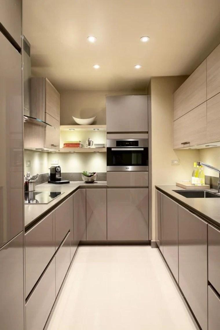 Cozinha pequena decorada minimalista