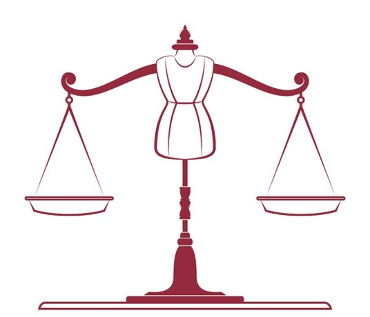 Fashion Law - imagem de busto de manequim com as balanças do direito