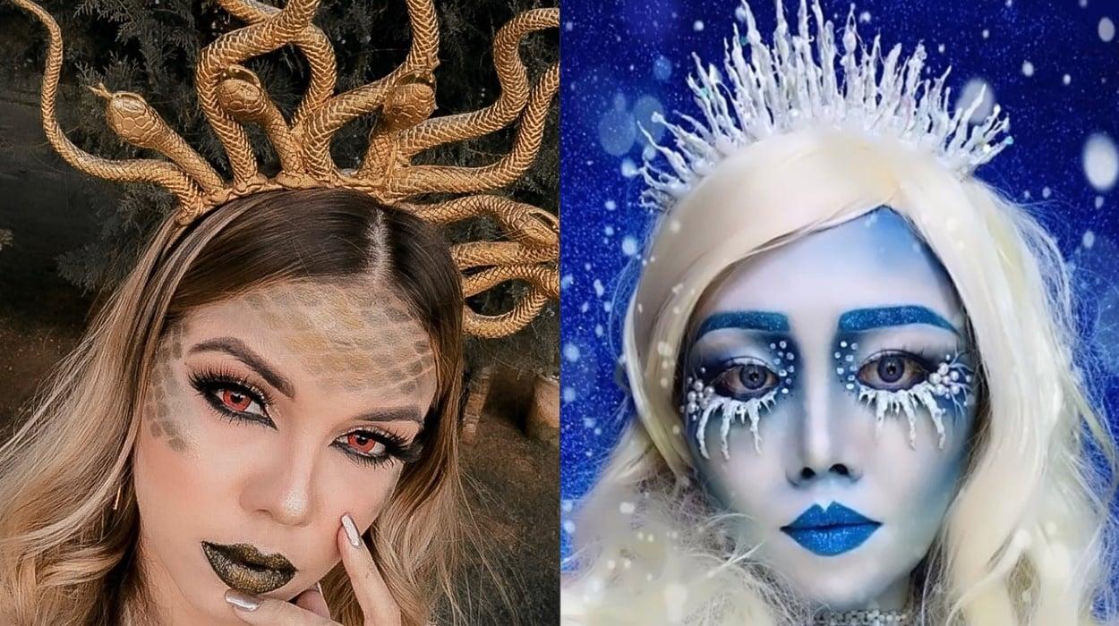 2 modelos de tiaras para Halloween.