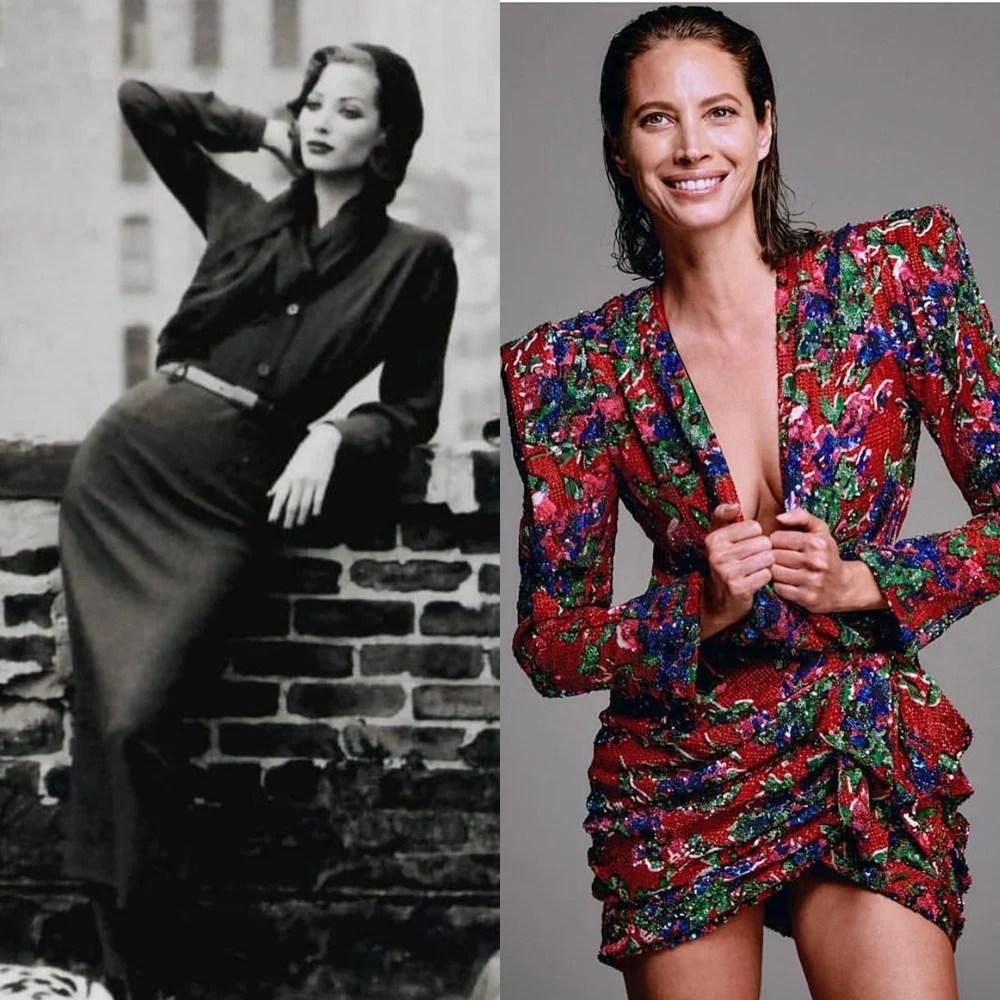 Christy Turlington antes e depois.