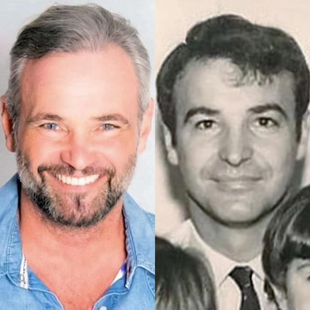 Mateus Carrieri e pai em comparação.