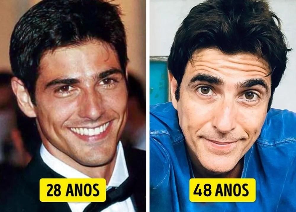 Reynaldo Gianecchini mais novo e mais velho.