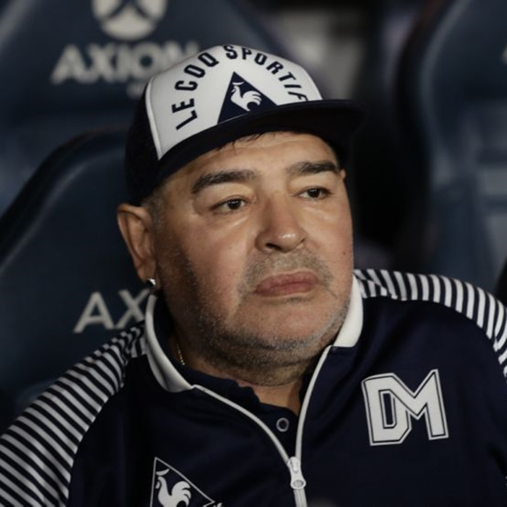 Ex-Jogador de futebol Diego Maradona.