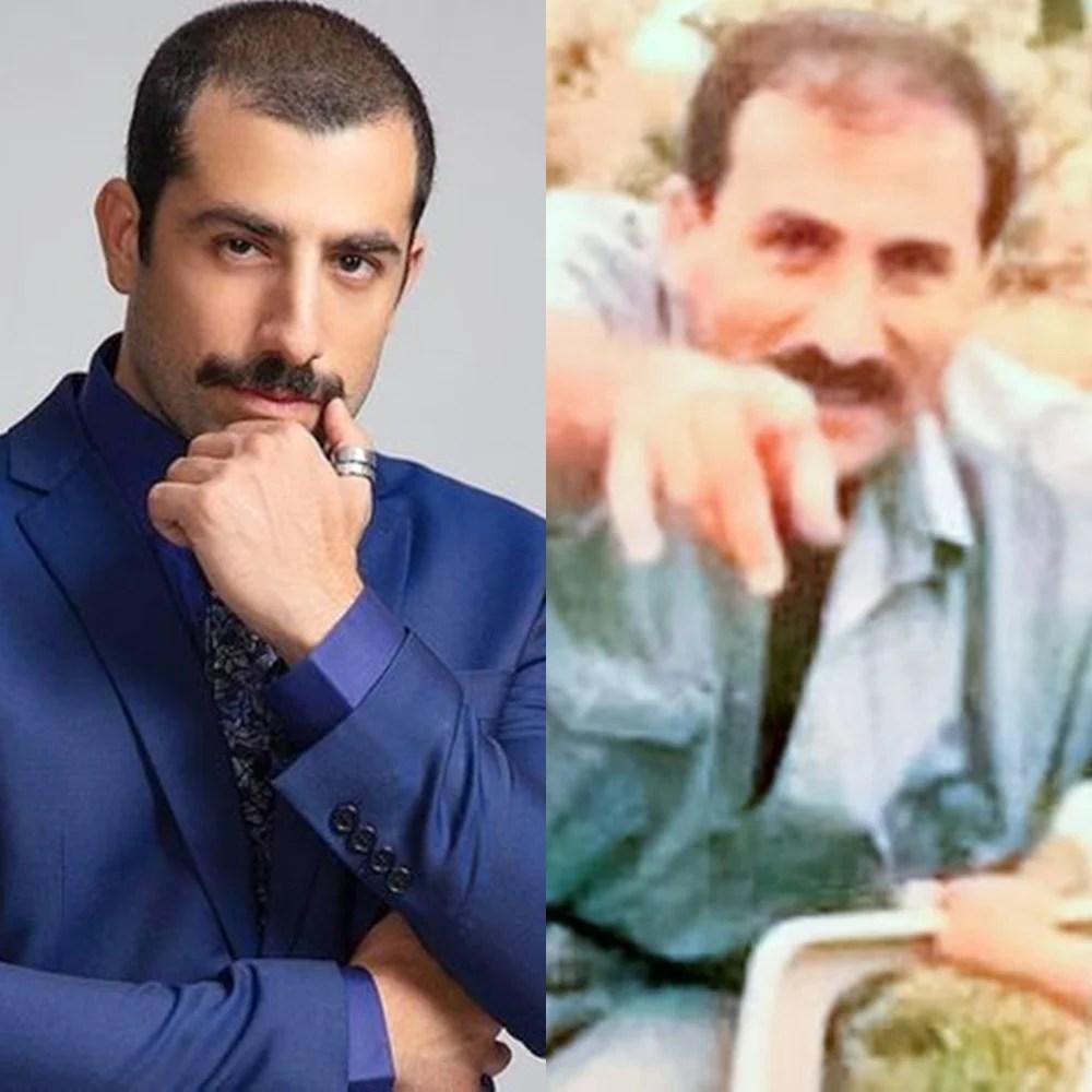 Kaysar e pai em comparação.