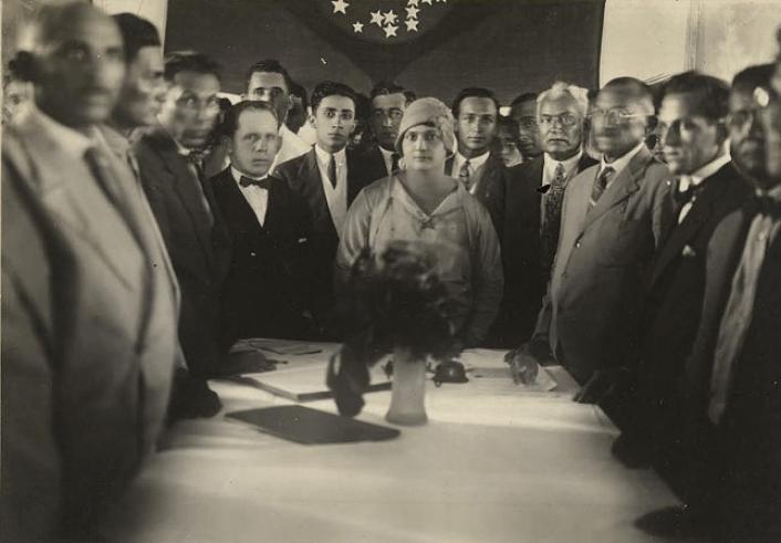 Posse da prefeita Luísa Alzira Soriano, Lajes, Rio Grande do Norte, 1º de janeiro de 1929.