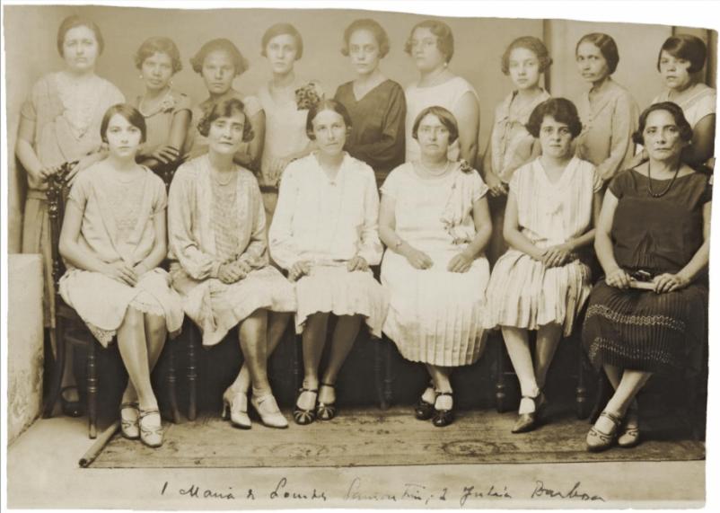 Primeiras eleitoras do Brasil na cidade de Natal, 1928. Natal, Rio Grande do Norte.