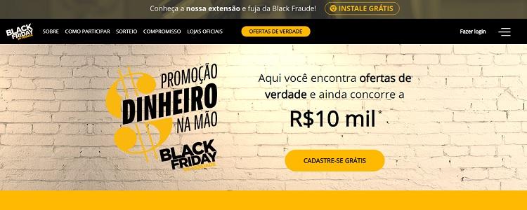 Página inicial do site Black Friday de Verdade