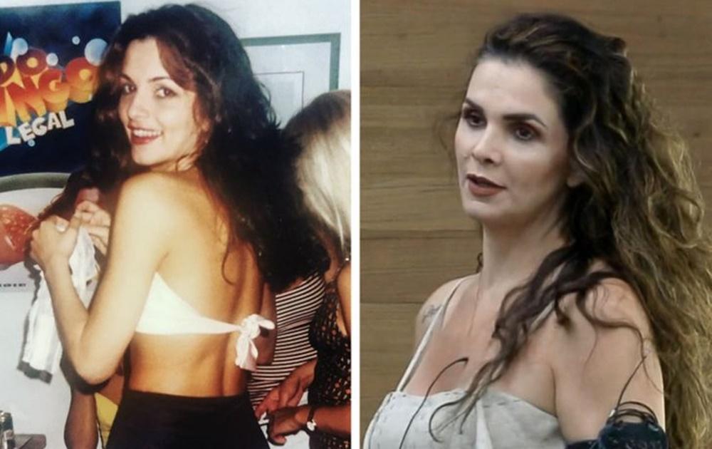 Luiza Ambiel antes e depois dos peões de A Fazenda 12.