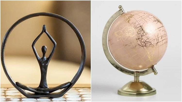 duas esculturas para decorar mesa