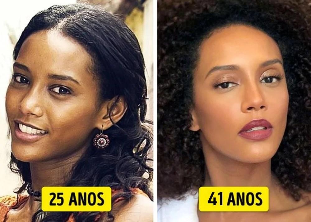 Taís Araujo mais nova e mais velha.