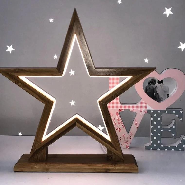 Estrela iluminada