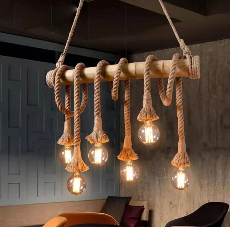 Luminária de corda