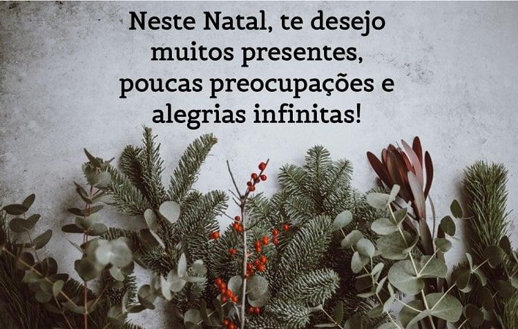 mensagem de Natal em fundo temático