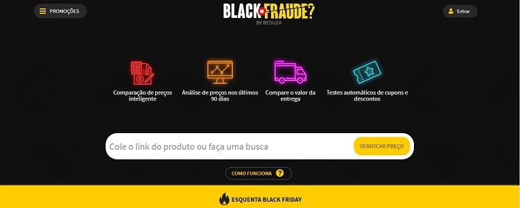 Página inicial do site Reduza, ideal para economizar na Black Friday