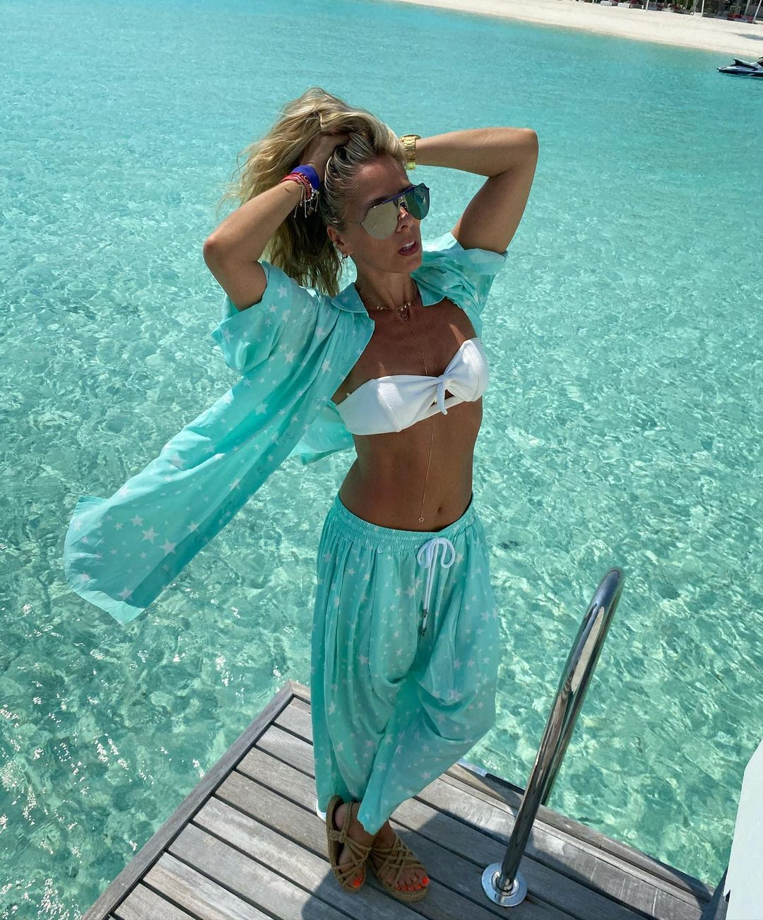 Galisteu nas Maldivas.