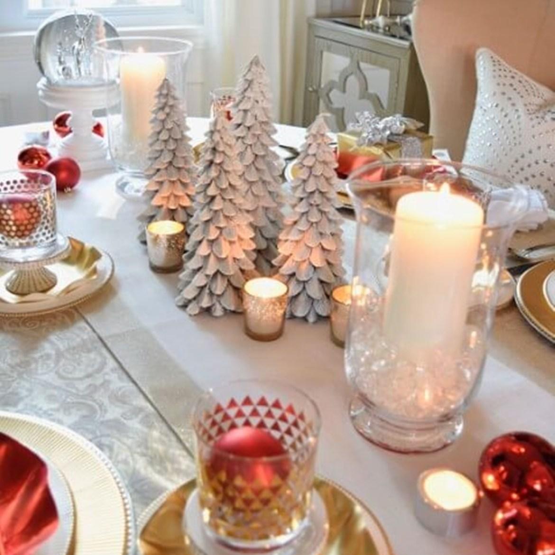 Centro de mesa de Natal faça você mesmo.