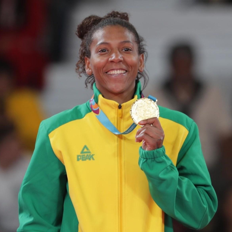Competidora de judô Rafaela Silva.