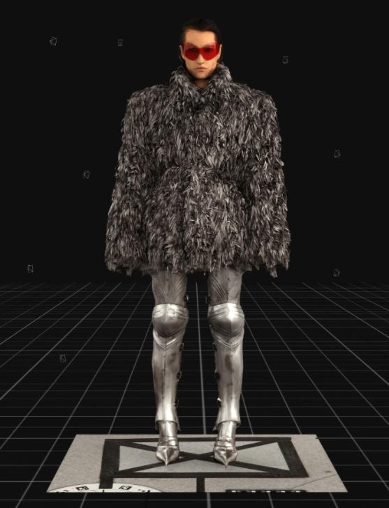Modelo usa casaco oversized, botas