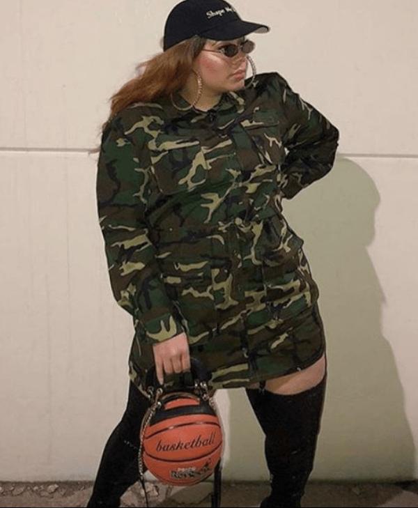 Vestido camuflagem