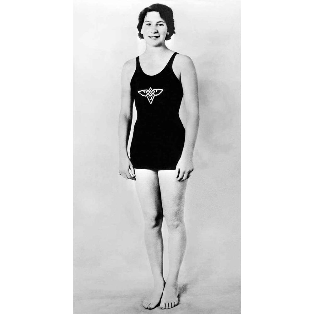 Maria Lenk competidora de natação.
